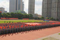 燃!育英学子在开学典礼告白祖国