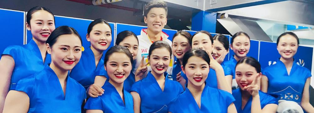 空乘专业学生担任第14届FINA世界游泳锦标赛礼宾服务