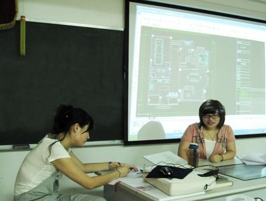 07环艺班开展课堂设计方案讲解活动
