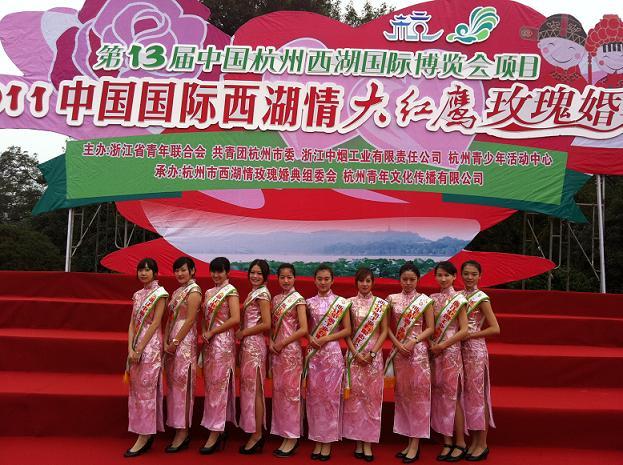 民航学子风采闪耀西博——记第十三届中国国际西湖情大红